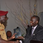 Kiprotich receives a sports Bible