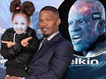 Not quite as scary! Jamie Foxx's daughter joins him at Amazing Spider-Man 2 premiere with face painted as his character Electro