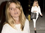 Not a scrap of slap: Alice Eve heads out for dinner in an all-white outfit looking naturally pretty completely make-up free
