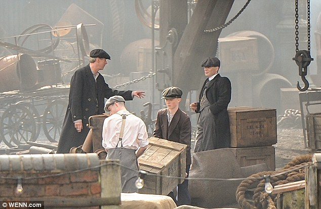 Lot's to talk about The two co-stars shoot a scene on the early 20th Century set