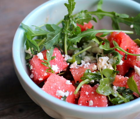 Watermelon Mint and Feta salad