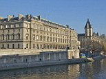 The alleged attack is said to have taken place at 36 Quai des Orfevres in Paris, pictured ¿ the famous headquarters of the city¿s judicial police next door to the city¿s law courts