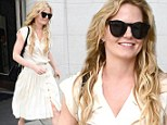 Her crowning glory! Jennifer Morrison emerges from the hair salon with fresh golden extensions to rival Rapunzel's famously long tresses