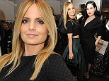 A couple of American beauties! Mena Suvari bares her tummy in crop top as Dita Von Teese takes the plunge at Christian Siriano Fall fashion preview