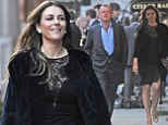 It¿s getting serious: Liz Hurley wears LBD to dine out again with new beau David Yarrow in Mayfair