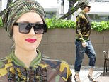 She's still got it! Gwen Stefani shows her edge in camouflage beanie and jacket to get pampered at the salon