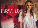No-one duck faces quite like JLo! Jennifer Lopez pouts like her life's depending on it alongside her First Love cover art during album listening brunch