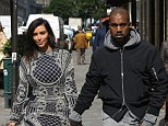 Big plans: According to reports Kim Kardashian and Kanye West will have three wedding ceremonies next month