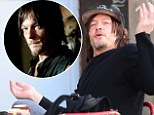 Sitting hungry: Walking Dead star Norman Reedus is highly expressive while out to lunch at New York City eatery on Thursday
