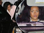 In the mood for Italian? Rihanna gets dressed up for another night of food and fun at Giorgio Baldi with friends