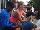 Photo evidence: Tiger Woods' ex Elin Nordegren and new flame Lindsey Vonn prove they're friends as they chat at game