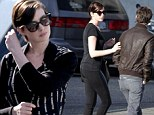Anne Hathaway steps out for lunch date