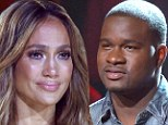 Sweet sorrow: Jennifer Lopez got emotional on Thursday as CJ Harris was eliminated from the competition on American Idol