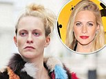 Poppy Delevingne looks worlds apart from her usual preened self as she ditches the make-up for day out