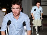 Maybe you should wear trousers next time! Kevin Connolly steps out in unflattering shorts and knee high sock combo for a party