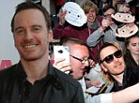Michael Fassbender gets mobbed by crowds