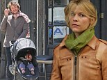 Daddy daycare! Claire Danes' husband Hugh Dancy looks after baby Cyrus while she enjoys retail therapy