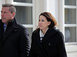 Legal trouble: Diana Durand, pictured in February with her lawyer Stuart Kaplan outside Federal Court in Brooklyn, was indicted Friday on federal charges over campaign finance violations