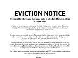 Phony: These phony eviction notices were slid under the doors of several of NYU's Jewish students