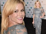 It's all Greek to me! Julie Bowen shows off her inner Goddess in a sheer and shimmering lace dress