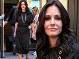 Taking it back to the old school! Courteney Cox steps out in NYC in a slinky 1980s inspired frock