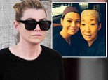 Make-up free Ellen Pompeo shops at Barneys New York after bidding farewell to Grey's Anatomy co-star Sandra Oh