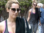 She's got it all worked out! Ashley Tisdale steps out in her favourite gym gear and Uggs as she leaves Pilates yet again