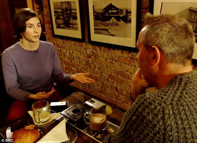 Coffee and sympathy: An interview over a latte in Seattle with a casually dressed reporter from The Guardian