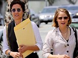 Here come the brides! Jodie Foster and wife Alexandra Hedison make their public debut as newlyweds a week after their surprise nuptials