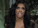 Calm before the storm: Porsha Williams, seen in a calm moment on the Real Housewives Of Atlanta reunion show, is cl;aiming she was bullied by Kenya Moore