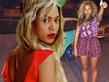 Red-dy or not... she's back! Beyonce treats Instagram to new snaps led by sexy 'come hither' shot of her in scarlet swimsuit