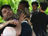 Ron Livingston and wife Rosemarie DeWitt pictured for first time with adopted daughter Gracie James