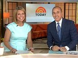She's back! Five-months-pregnant Today show host Savannah Guthrie returned to work this morning after her week-long 'honey-babymoon' showing off her beach tan in a figure-flattering blue dress