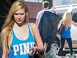 Anything But Ordinary: Avril Lavigne went bra-less and make-up free as she headed out in Los Angeles for a spot of retail therapy with her husband Chad Kroeger