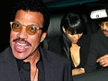 But Lionel Richie looked like a man half is age on Sunday - no doubt thanks to his beautiful, much-younger dinner companion.