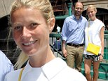 Make-up free Gwyneth Paltrow displays slim pins in patterned shorts as she puts on a brave face one month after marriage split