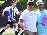 No bad feelings here! Britney Spears' ex Kevin Federline and her dad Jamie reunite to watch sons play soccer