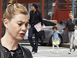 She still looks good! Ellen Pompeo shops for toys with her family sporting a make-up free face