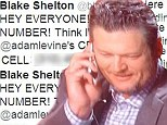 Feeling bad: Blake Shelton answered Adam Levine's cell phone after sharing the Maroon 5 frontman's personal number on Twitter