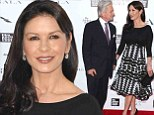 So in love! Michael Douglas and Catherine Zeta Jones share lingering look at Chaplin Award Gala in New York