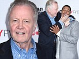 A Ray of sunshine! Jon Voight literally puts smile on face of co-star Pooch Hall at Donovan screening
