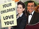 Love and support: Kerri Kasem organized a birthday vigil on Sunday for the 82nd birthday of her father Casey Kasem outside his convalescent home in Santa Monica, California