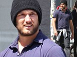 Bearded Alex Pettyfer steps out in lumberjack outfit as he is still yet to be confirmed for Magic Mike 2