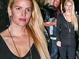 At her lowest weight! Jessica Simpson celebrates lean frame in sheer top and skinny jeans while out for family dinner
