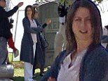 Jennifer Aniston makes grave fashion faux pas in frumpy outfit... as she films tombstone scene for new film Cake