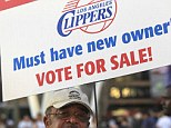 A blessing for Sterling in the disguise of a punishment? If forced to sell his LA Clippers, the reviled owner could be in for his biggest payday ever. Above a man protests outside the Staples Center on April 29