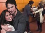 Vampire Diaries star Ian Somerhalder is serenaded by a female fan