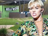 A horse, the Hollywood sign and a $25,000 teepee! Video of Miley Cyrus' weird backyard emerges online