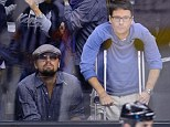 Dedicated fans: Leonardo DiCaprio and his close friend Kevin Connolly were spotted at a hockey game in LA on Monday