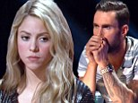 Getting nervous: Shakira looked worried on Tuesday as her singer Tess Boyer landed in the bottom three and faced elimination on The Voice